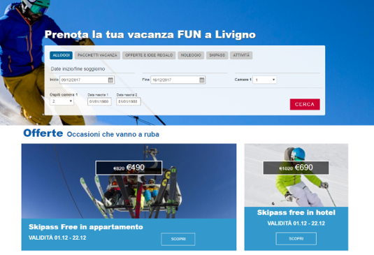 Booking e Marketplace turistico